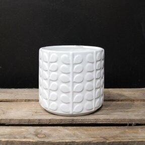 Baltas cilindras su lapeliais