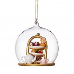 Kalėdinė arbatėlė - stiklinis burbulas