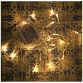 Kalėdinės LED lemputės su baterijomis