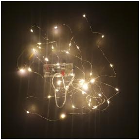 Kalėdinės LED lemputės su baterijomis - Fėjų šviesos