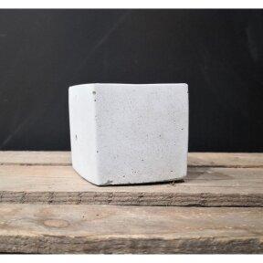 Kvadratinis betoninis vazonėlis