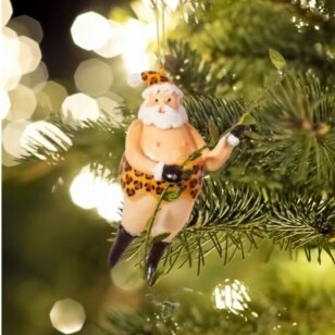 Santa tarzanas - stiklinis žaisliukas